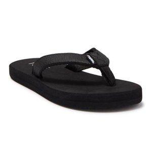 FLOJOS Brody Flip Flops Black Little Kids